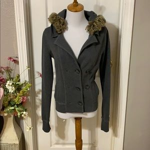 Abercrombie & Fitch Jackets & Coats - Abercrombie gray hooded jacket size S